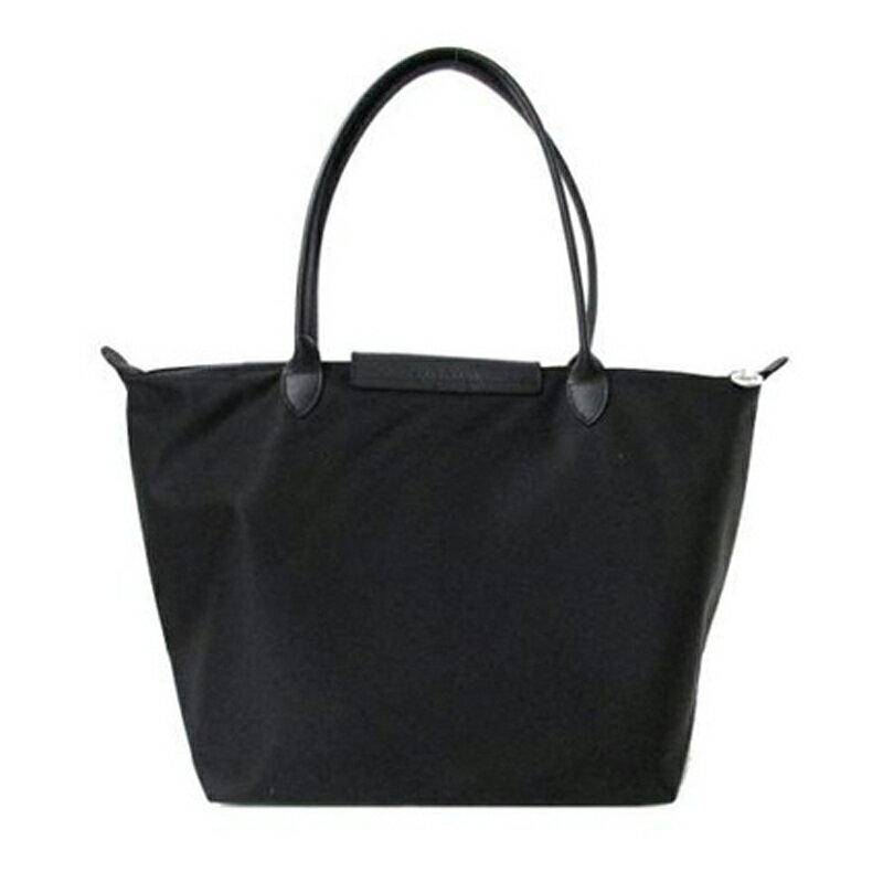 LONGCHAMP 1899 578 001新款Le pliage系列 1899加厚尼龍超柔軟材質大號手提購物袋 超大容量 黑色 1