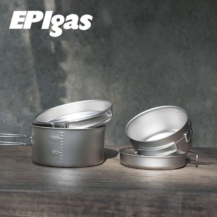 EPIgas 鈦BP炊具組 T-8008/ 城市綠洲 (鍋子.炊具.戶外登山露營用品、鈦金屬)