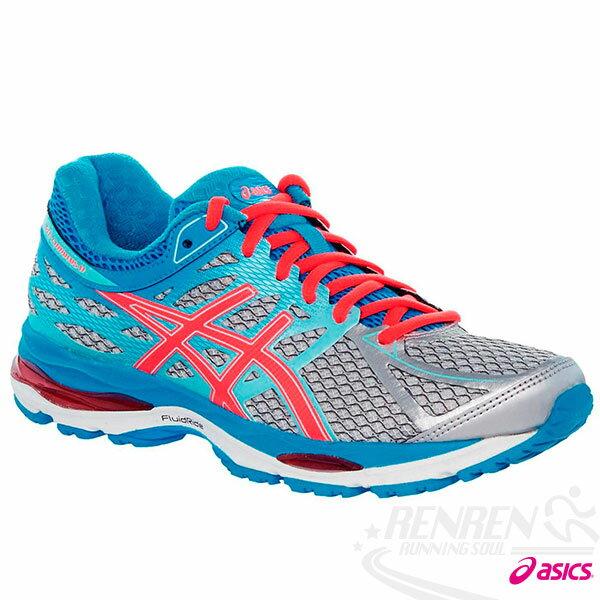 ASICS亞瑟士女慢跑鞋(灰*藍)GEL-CUMULUS17緩衝吸震