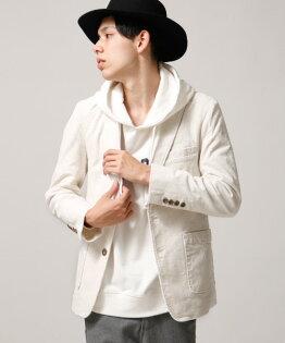燈芯絨西裝外套WHITE