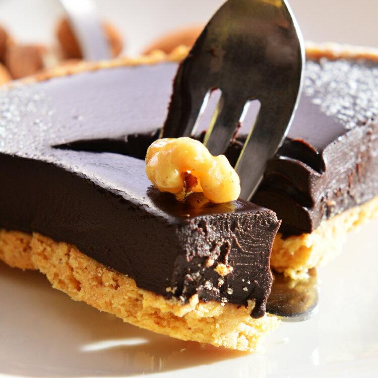 純巧克力派6吋【美地瑞斯】★德國 Lubeca 70% 純黑巧克力→使用大量德國進口70%LUBECA黑巧克力,最純粹的巧克力口感,要給最愛吃巧克力的惡魔們#免運