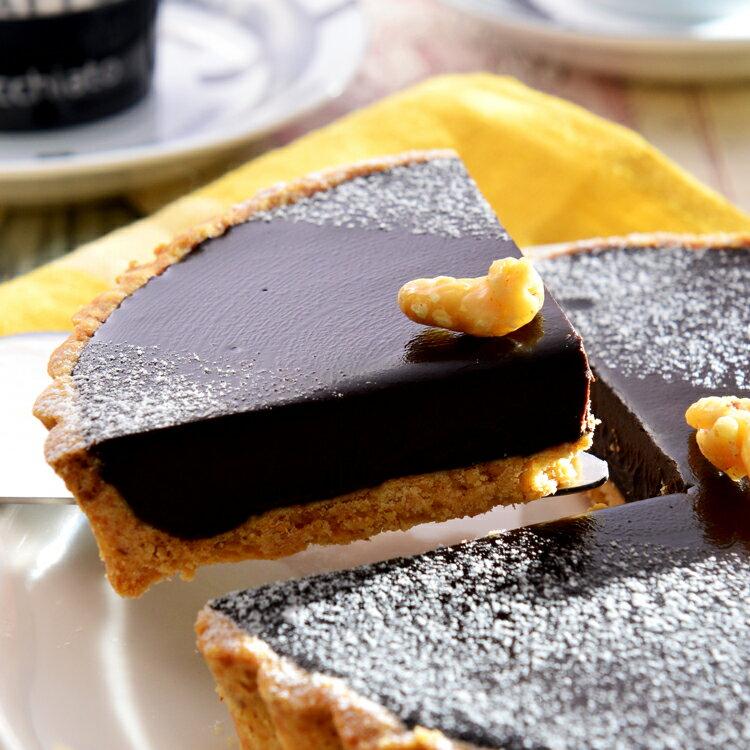 純巧克力派6吋【美地瑞斯】使用大量德國進口70%LUBECA黑巧克力,最純粹的巧克力口感,要給最愛吃巧克力的惡魔們。焦糖香蕉派3吋+純巧克力派3吋 ps.3吋派為求商品完整不切片喔!
