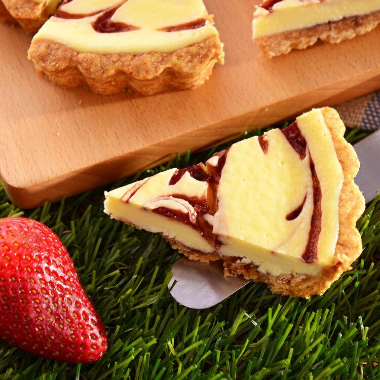 草莓乳酪派6吋【美地瑞斯】★純濃自製手工草莓醬→新鮮草莓自製果醬搭配濃郁乳酪,大理石花紋般的美麗外表,視覺、味覺享受一次滿足!#草莓蛋糕#免運 3