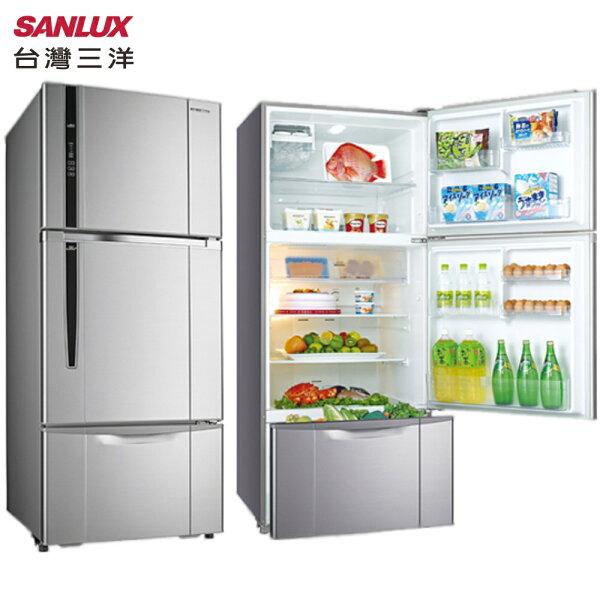 SANLUX台灣三洋SR-C580CV1冰箱580L三門直流變頻能源效率第1級