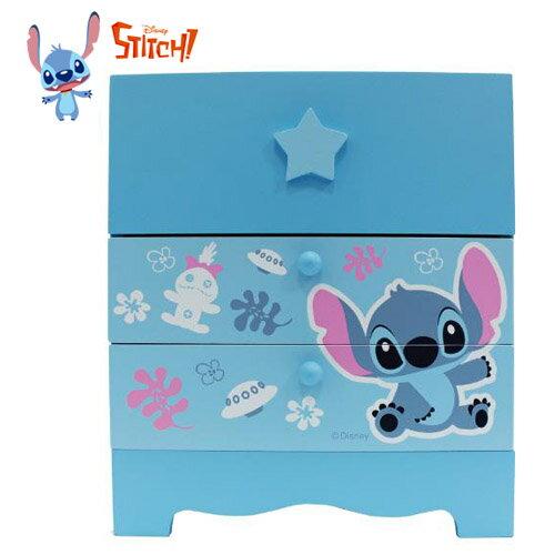 【真愛日本】17030700005 二抽桌上收納盒-史迪奇可愛 迪士尼 星際寶貝 史迪奇 收納櫃 收納盒