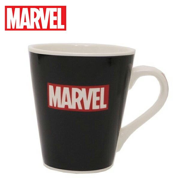 LOGO款【日本正版】MARVEL陶瓷馬克杯240ml咖啡杯漫威英雄漫威LOGO-499316