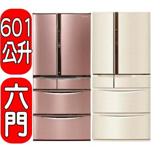 《結帳打95折》Panasonic國際牌【NR-F602VT-R1/NR-F602VT-N1】六門變頻冰箱《日本原裝》