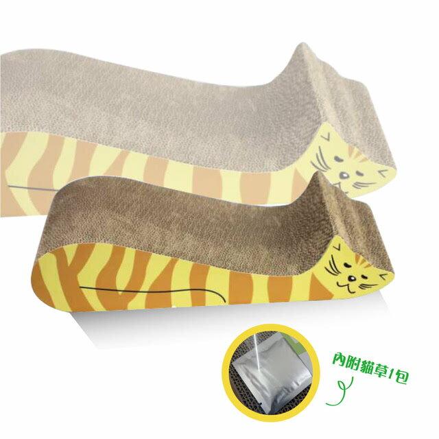 易抓樂 小懶貓貓抓板(47.5*22*10.5cm)【此款抓板限1個可超取】(I002C03) 1