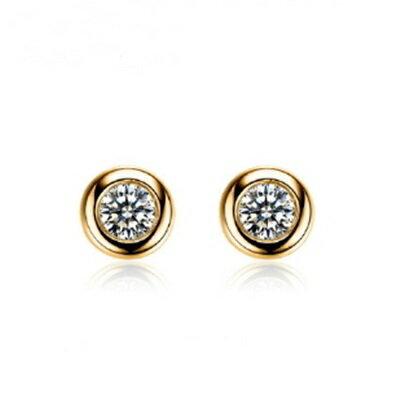 925純銀耳環鑲鑽耳飾~精緻小巧簡約 生日情人節 女飾品2款73dz53~ ~~米蘭 ~