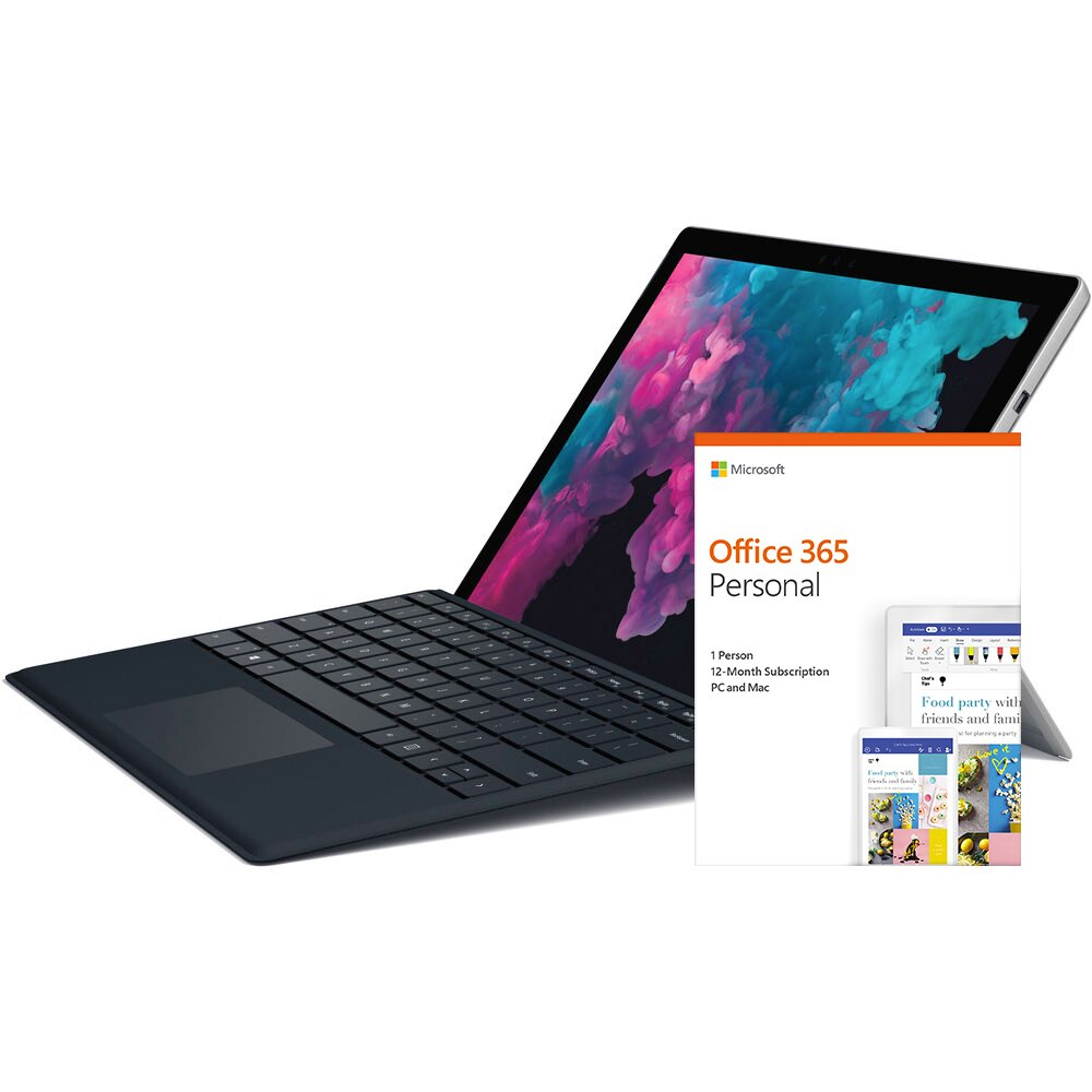 Microsoft Surface Pro 6 256GB Tablet + MS Office 365 1 Yr. + $26.99 Credit