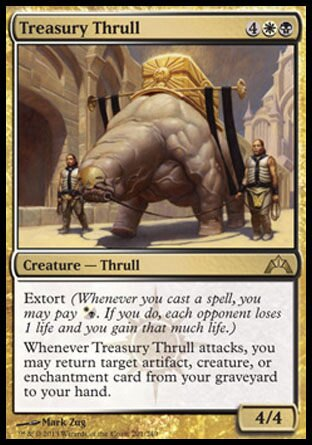 【冰河森林】MTG 魔法風雲會 Gatecrash 兵臨古城 NO. 201 英文版 寶庫索爾獸Treasury Thrull R卡 (金卡稀有 生物~索爾獸 4/4)