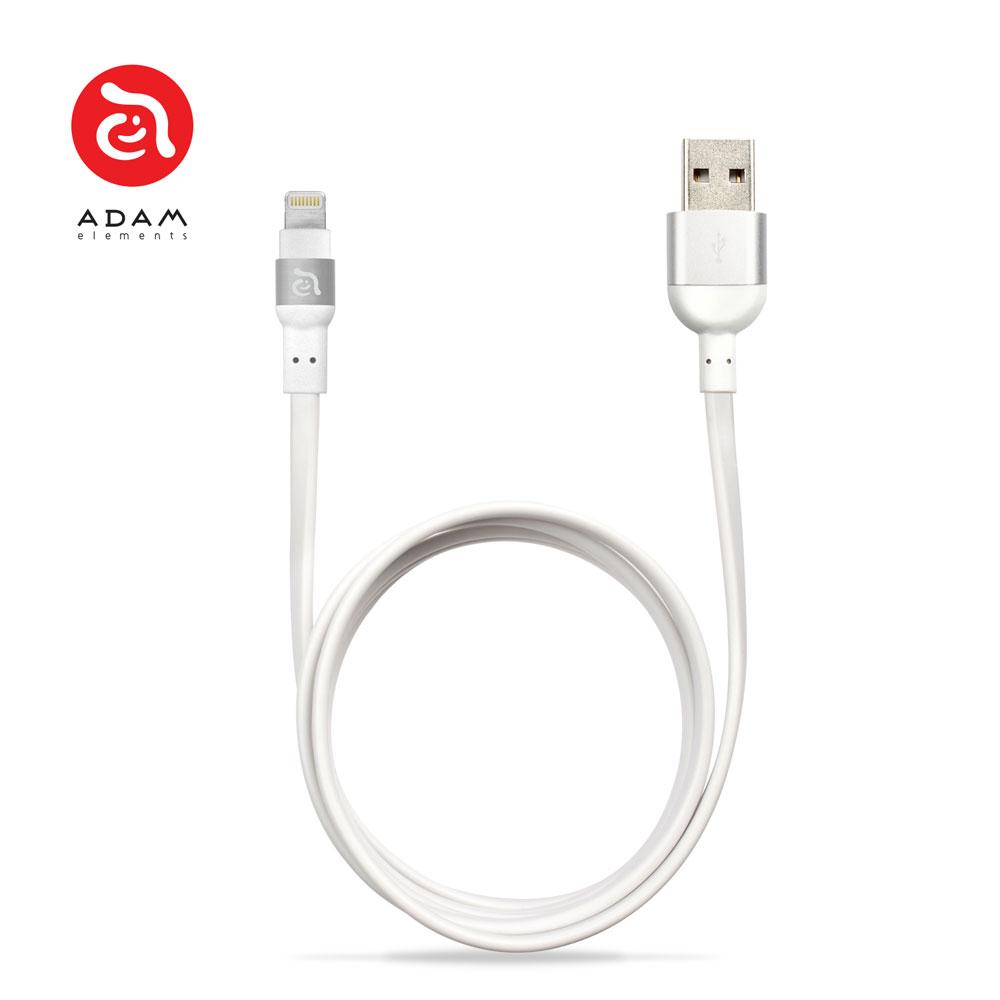 PeAk Lightning Cable Duo 120F 雙用金屬扁式傳輸線 正反插 蘋果/APPLE/手機/3C/iPhone/充電線/安卓/ 4