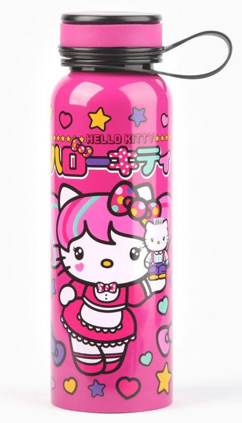X射線【C841836】Hello Kitty 美國版限定運動鋁瓶,隨手瓶/保溫杯/直飲式水壺/保冷保溫/環保