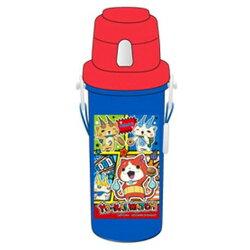 大賀屋 妖怪手錶 水壺 600ml 水瓶 水杯 紅藍 按壓式 直飲 卡通 妖怪 手錶 日貨 正版 授權 J00012991