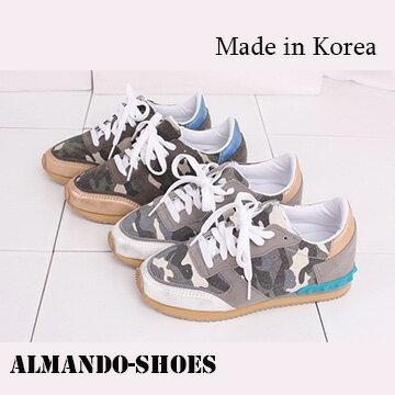 ALMANDO-SHOES ★韓國迷彩慢跑休閒鞋★ 正韓空運