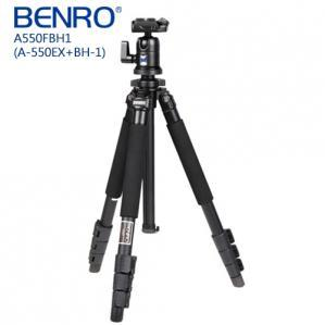 【BENRO百諾】 鎂鋁合金 A550FBH1 都市精靈系列扳扣式腳架套組  送原廠腳架袋