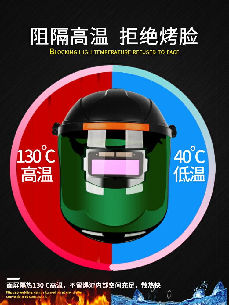 電焊面罩 電焊面罩自動變光燒焊帽子防護罩全臉部頭戴式氬弧焊工面卓眼鏡覃【3】