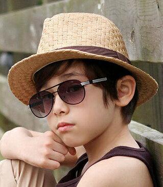 Kocotree◆帥氣鐵架防紫外線護目太陽眼鏡-黑框