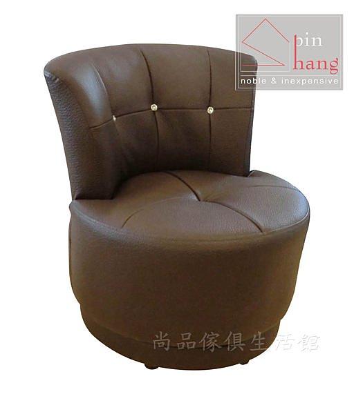 【尚品傢俱】645-04 克莉 半牛皮咖啡厚皮旋轉椅/單人沙發