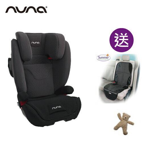 【贈汽車座椅保護墊+玩偶(隨機)】荷蘭【Nuna】AACE Isofix 成長型汽座(汽車安全座椅)-灰黑色