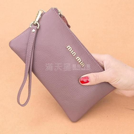 皮手拿包女錢包長款2020新款簡約時尚手包零錢包皮夾小包手抓包