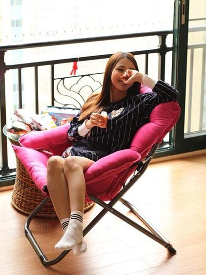 創意懶人單人沙發椅休閒摺疊宿舍電腦椅家用臥室現代簡約陽台躺椅