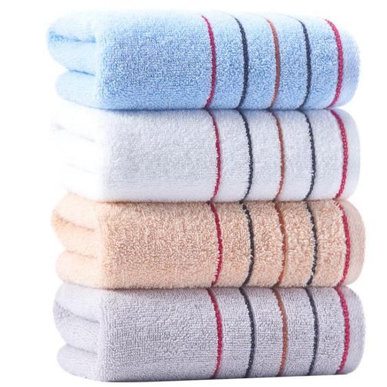 潔麗雅毛巾 純棉加厚洗臉巾柔軟吸水全棉家用成人男女兒童毛巾4條