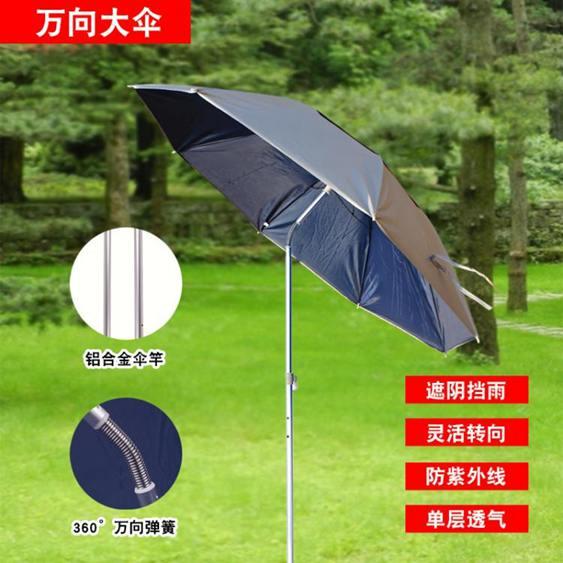 釣魚傘 釣魚傘萬向防雨戶外釣魚傘地插折疊遮陽防曬折疊垂釣傘漁具用品