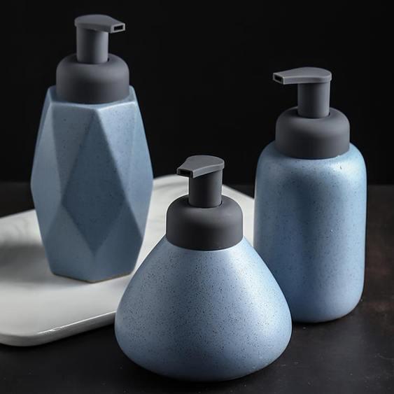 洗手液瓶 樣板房浴室沐浴露瓶衛生間陶瓷洗手液瓶北歐分裝瓶泡沫乳液按壓瓶
