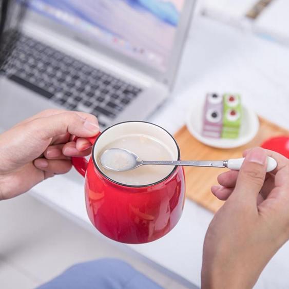 馬克杯 杯子創意個性潮流陶瓷馬克杯帶蓋勺咖啡水杯家用茶杯男女LOGO