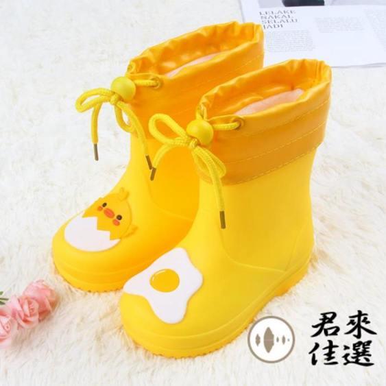 收口保暖兒童雨鞋防滑寶寶雨靴輕便男女童水鞋