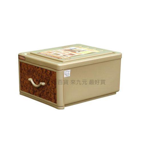 【九元生活百貨】聯府 QJ09 XL核桃木抽屜整理箱 置物 收納 QJ-09