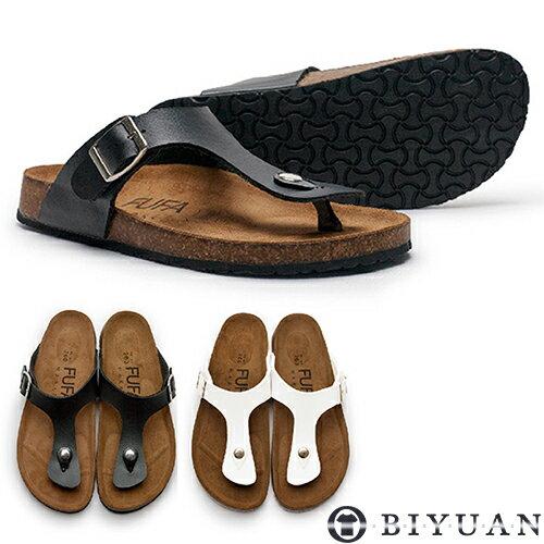 經典款真皮鞋墊夾腳拖鞋【Q2PQ09】OBIYUANMIT手工拖鞋共2色
