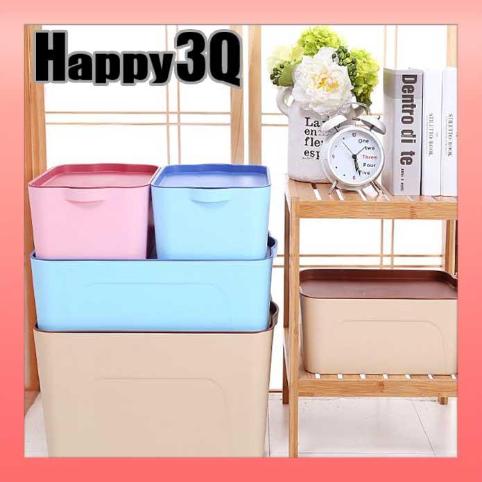 家居雜貨 防水耐用大容量托盤玩具衣物書本小物整理收納盒多尺寸~紅  藍  米~AAA077