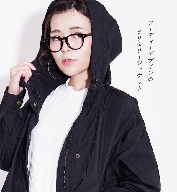 日本e-zakka / 連帽軍裝夾克外套 / 32620-1900091 / 日本必買 代購 / 日本樂天直送(4500) 4