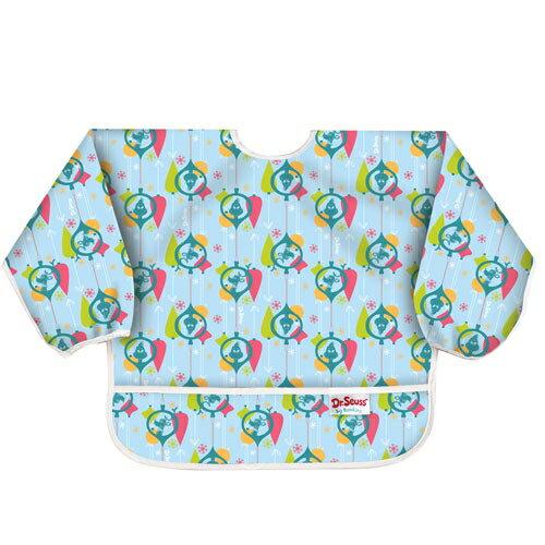 【淘氣寶寶】2016年最新【美國Bumkins】小童(6-24月)長袖防水圍兜-幾何圖紋 BKSU-G03【保證公司貨】