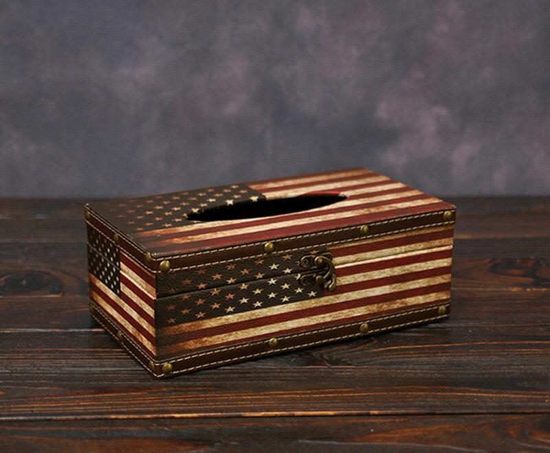 《派崔克》1982 弧形 美式 復古風 國旗 面紙盒 衛生紙盒 面紙套 小物收納 !新生活家具! 樂天雙12
