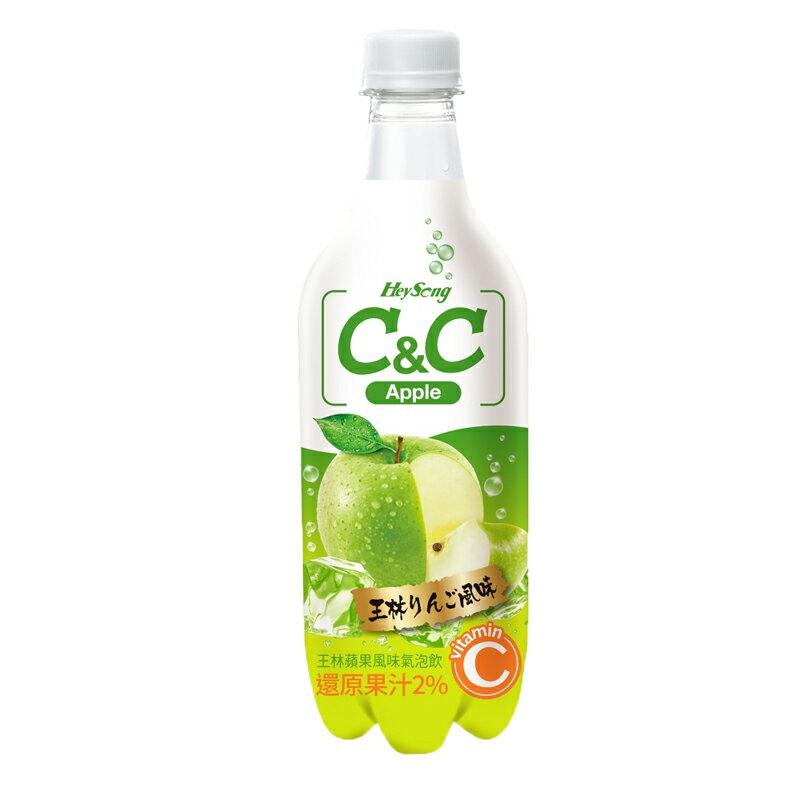 黑松C&C氣泡飲(王林蘋果風味)500ml 【康鄰超市】