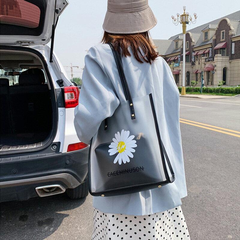 女包包 網紅大包包女2020新款大容量夏天透明果凍包腋下包子母單肩托特包【MJ5711】