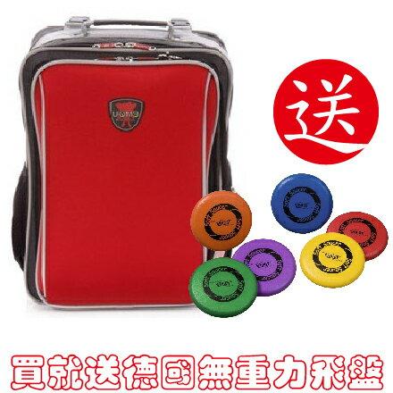 *babygo*{買1送1}【UnMe】雙層多功能後背書包(新品無票卡)N3088紅色買就送德國無重力飛盤1個(顏色隨機)