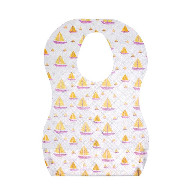 升級三層防水拋棄式圍兜  一包10入 口水巾 吃飯兜 一次性圍兜 餐巾紙 2