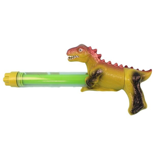 恐龍造型水槍 四噴頭拉把水炮 / 一盒12支入(促120) YT639 透明管抽拉式水槍 手拉水槍棒-CF134493 2