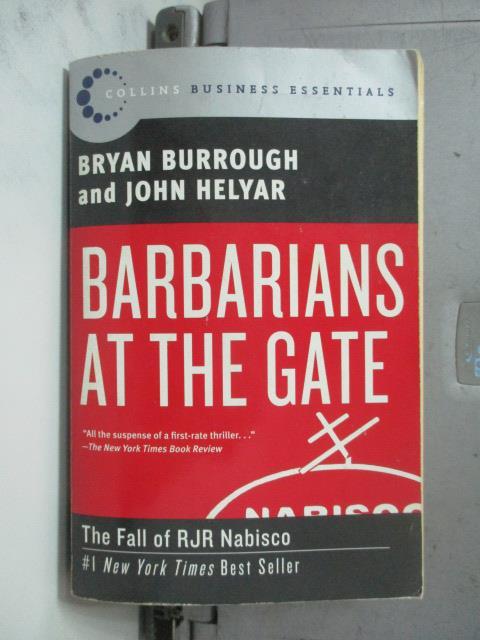 【書寶二手書T1/原文書_NSW】Barbarians at the Gate_Burrough