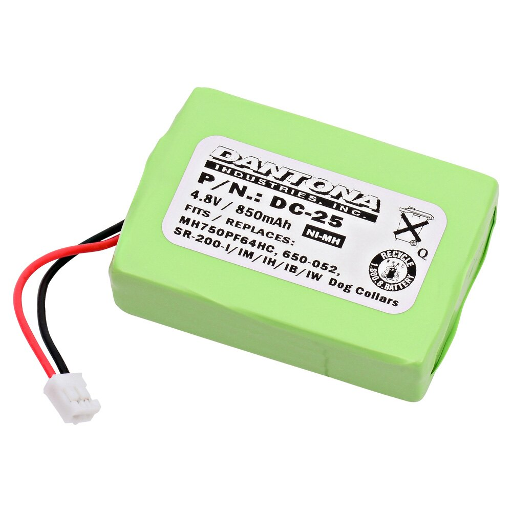 DC-25 4.8V 850mAh battery pack for  SportDOG - SportHunter 1800 SR200-IM Receiver 0