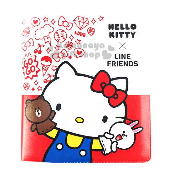 〔小禮堂〕Kitty X Line 名片本~白紅.手偶.蝴蝶結.星星~
