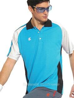 【日本Kawasaki】男女運動休閒吸濕排汗短POLO衫-天藍#K2238A1(排汗衫)