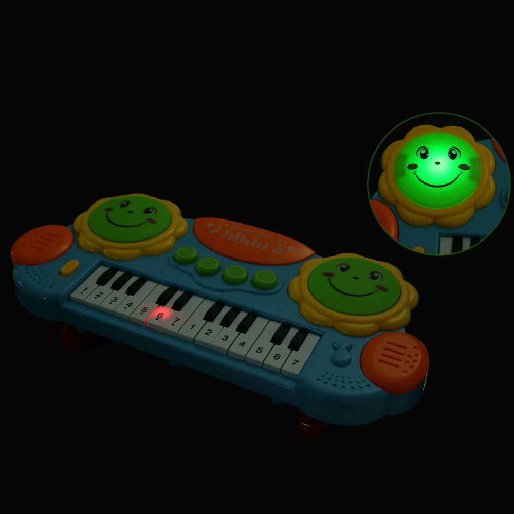 Baby Kids Educational Development Music Instrument Toy Battery Electronic Organ Keyboard Hand Beat Pat Drum Piano 5