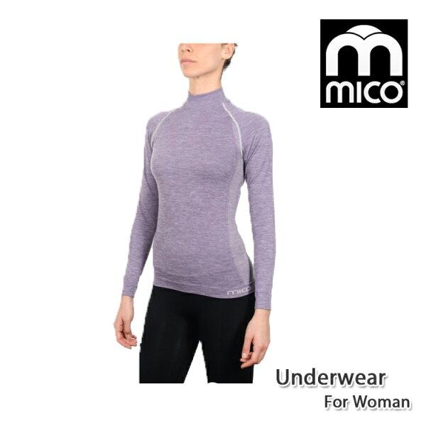 MICO女無縫單向導濕高領保暖衣1891城市綠洲(機能、保暖、長袖上衣、內著)