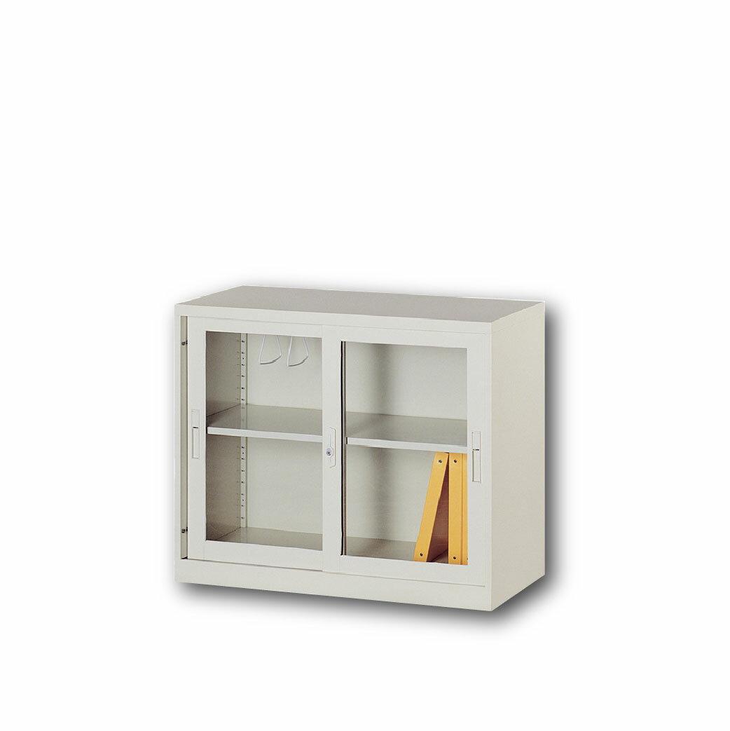 【哇哇蛙】理想櫃/玻璃拉門活動二層式 UG-2A 辦公 學校 收納 文件報表 置物櫃 分類櫃 隔間櫃 鐵櫃 資料櫃