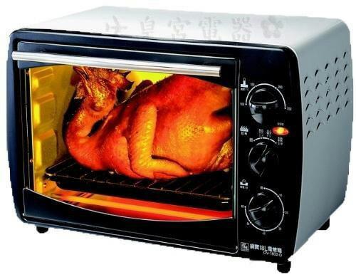 ✈皇宮電器✿ 鍋寶 18L多功能電烤箱 OV-1802-D. 100~250C溫度控制  0~60分設計